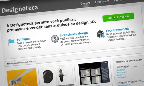 Designoteca home page